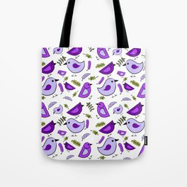 Purple birds-Waiting for Spring Tote Bag