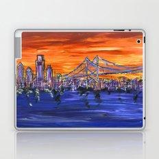 Ben Franklin Bridge Sunset Laptop & iPad Skin