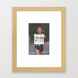Run Like A Girl Lady Boss Runner Queen Princess Framed Art Print