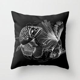 showdown (black) Throw Pillow