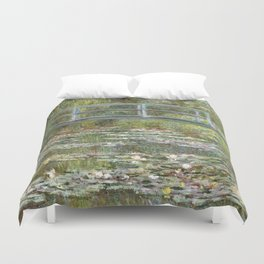 Bridge over a Pond of Water Lilies by Claude Monet Duvet Cover