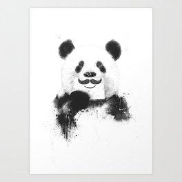 Funny panda Art Print