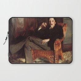 Vintage Painting of Robert Louis Stevenson (1887) Laptop Sleeve