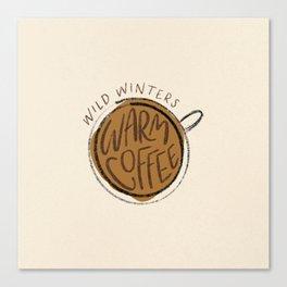 Warm Coffee Canvas Print