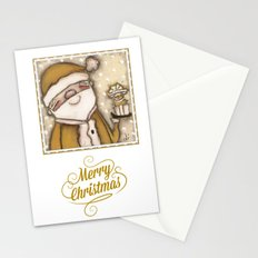Yellow Santa - by Diane Duda Stationery Cards