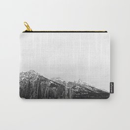 Grand Tetons in Black and White Carry-All Pouch