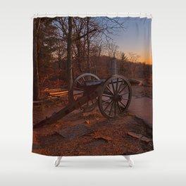 Gettysburg Sunset Cannon Shower Curtain