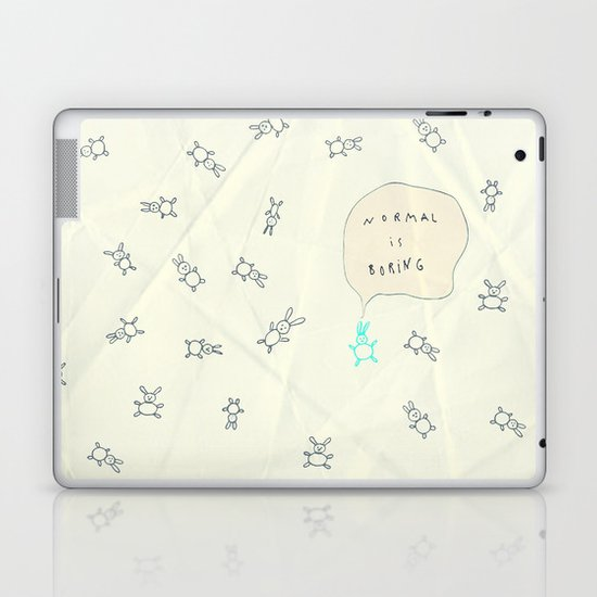 NORMAL IS BORING Laptop & iPad Skin