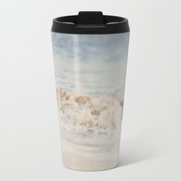 the waves running up against your feet ... Travel Mug
