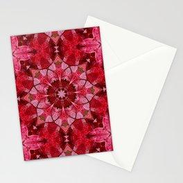 Red autumn leaves kaleidoscope - Cranberrybush Viburnum Stationery Cards