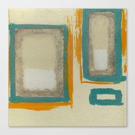Soft And Bold Rothko Inspired - Corbin Henry Modern Art - Teal Blue Orange Beige Canvas Print