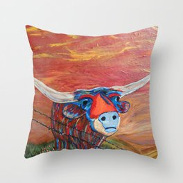 Fly Me to the Moo Throw Pillow