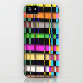 inclined coloured stripes with shadows iPhone Case