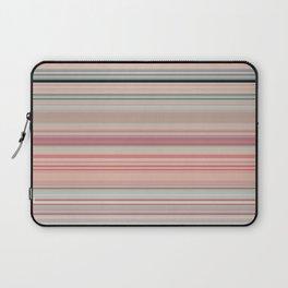 Pink Peach Pastel Stripe Design Laptop Sleeve
