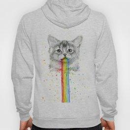 Kitten Puking Rainbows Cat Rainbow Vomit Hoody