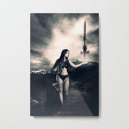 Warrior IV Metal Print