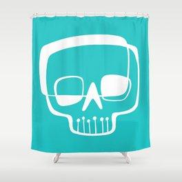Mid-Mod Skull Shower Curtain