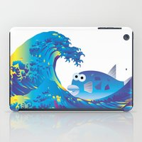 hokusai iPad Cases featuring Hokusai Rainbow & Globefish  by FACTORIE