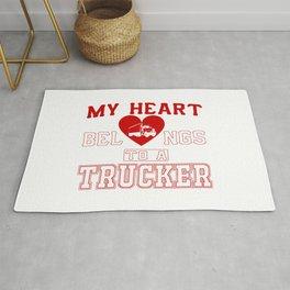 My heart belongs to a Trucker Rug