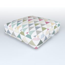 Colorful Triangle Tile Pattern Outdoor Floor Cushion