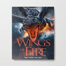Wings of Fire 4 - The Dark Metal Print