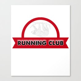 Adorable Sloth Running Club for Sloth Lovers Canvas Print