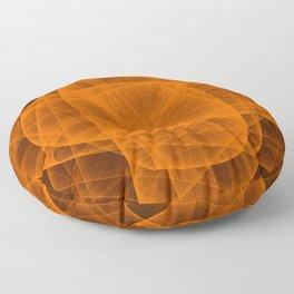 Eternal Rounded Cross in Orange Brown Floor Pillow