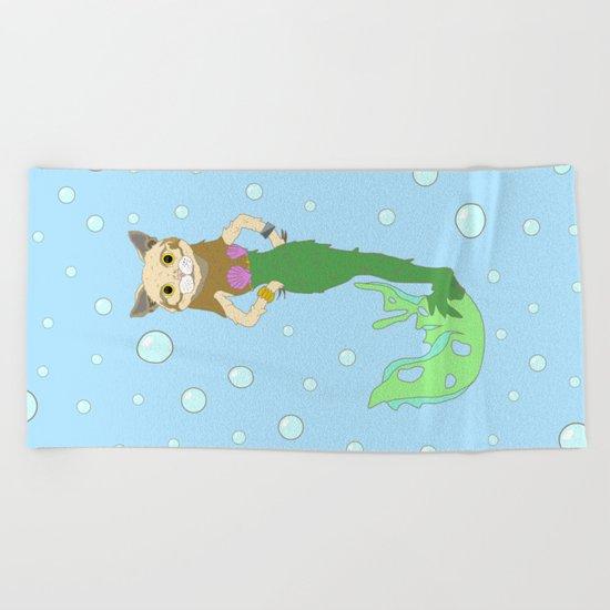 Mer-Cat Beach Towel