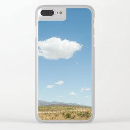 White clouds in the mountains Clear iPhone Case