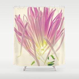 Love me, Dhalia - Botanical Print Shower Curtain