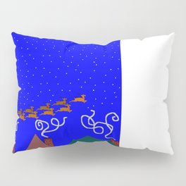 Santa and His 9 Tiny Reindeer Pillow Sham