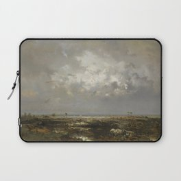 Bordeaux Sailboats in the Bay of Biscay, France, Garonne Estuary by Théodore Rousseau Laptop Sleeve