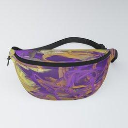 Psychadelic Orange Green Yellow Purple Abstract Fanny Pack