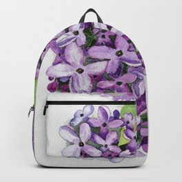 Watercolour Lilac Bloom Backpack