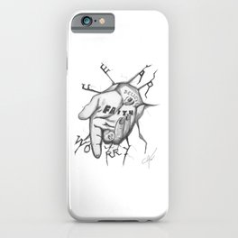 Jesus - Take My Helping Hand iPhone Case