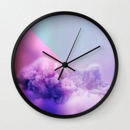 unicorn clouds Wall Clock