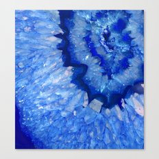 Ocean Blue Crystal Canvas Print
