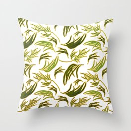 Gorgeous Australian Eucalyptus Leaves Throw Pillow