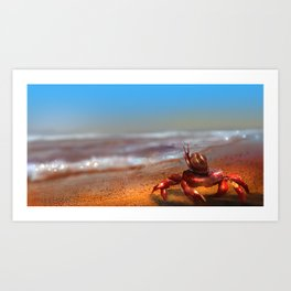 Waiting by the shore Art Print