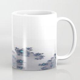 White with Blue Sparkle Coffee Mug