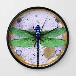 Blue Eyed Damselfly Wall Clock