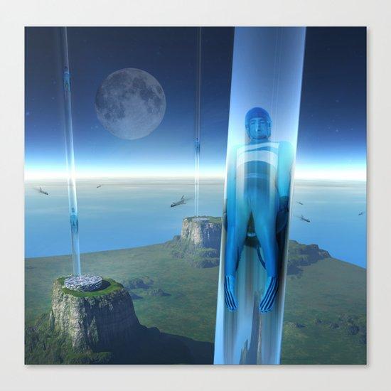 space elevator - babylon transfer station 02 Canvas Print