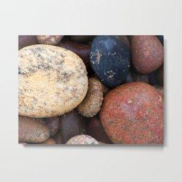 Lake Superior Beach Stones Metal Print