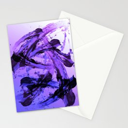 Ferocious And Calming Lavender Abstract Stationery Cards