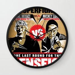 Battle of The Senseis ! When Mickey meets Mr.Miyagi... Wall Clock