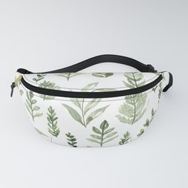 Watercolor leaves Fanny Pack