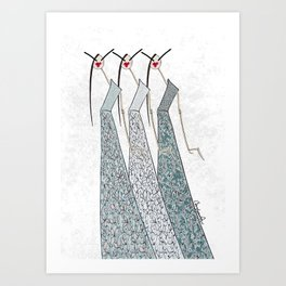 FLOWER GIRLS 3 Art Print
