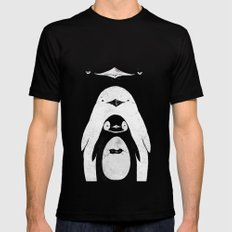 Penguinception Black Mens Fitted Tee MEDIUM