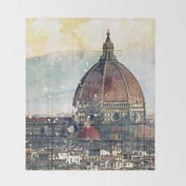 Florence - Cattedrale di Santa Maria del Fiore Throw Blanket