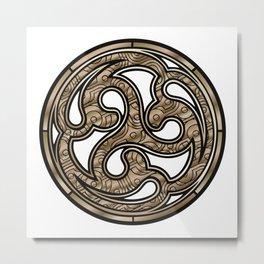 Bronze Medallion Metal Print
